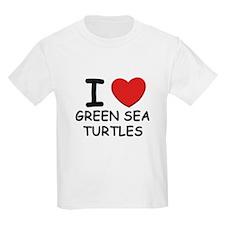 I love green sea turtles Kids T-Shirt