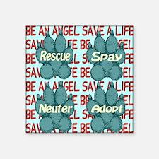 "beanangel_savealife_greypaw Square Sticker 3"" x 3"""