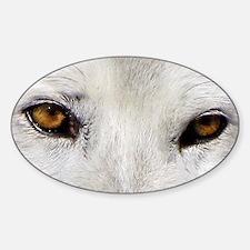 WOLF WHITE Sticker (Oval)