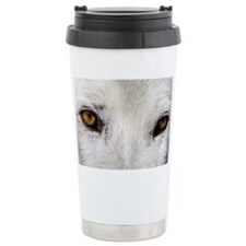 WOLF WHITE Travel Coffee Mug