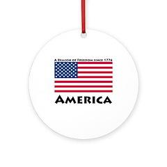 America Freedom Ornament (Round)