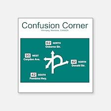 """10x10 ConfusionCorner Square Sticker 3"""" x 3"""""""