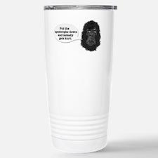 gorilla-mask-art Stainless Steel Travel Mug