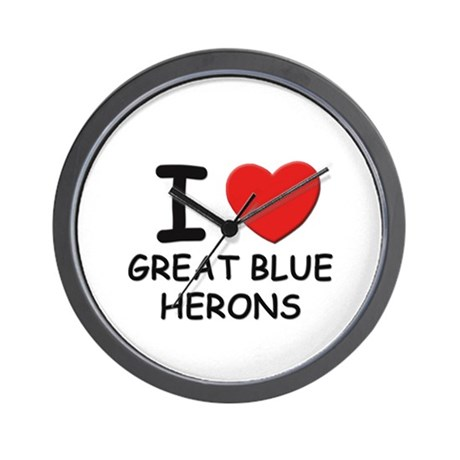 I love great blue herons Wall Clock