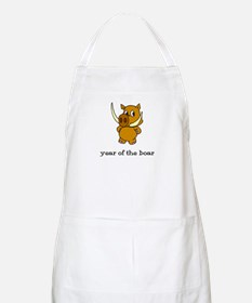 Year of the Boar (picture) BBQ Apron