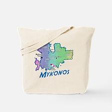 mykonos_t_shirt_map Tote Bag