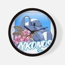 mykonos_t_shirt_paraportiani Wall Clock