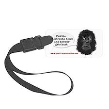 gorilla-mask-art website Luggage Tag