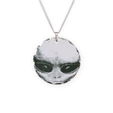Area 51 Alien Logo Necklace Circle Charm