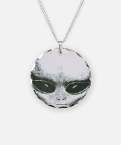 Area 51 Alien Logo Necklace Circle Charm