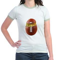 Football Chick Jr. Ringer T-Shirt