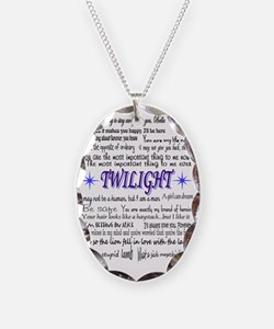 Twilight Quotes Necklace Oval Charm