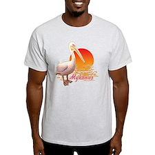 mykonos_pelican_t_shirt T-Shirt