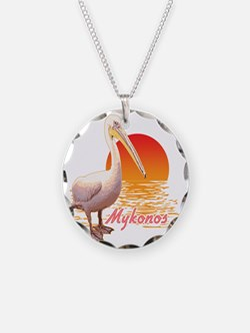 mykonos_pelican_t_shirt Necklace Circle Charm