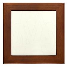 all white mtn bike copy Framed Tile