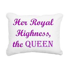 The Queen (dark) Rectangular Canvas Pillow