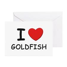 I love goldfish Greeting Cards (Pk of 10)