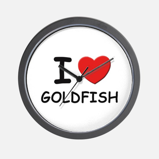 I love goldfish Wall Clock