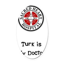 2-TisMD 001 Oval Car Magnet