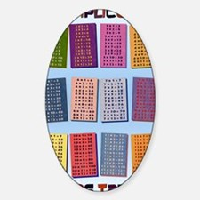 Times Tables _mini poster1 Sticker (Oval)