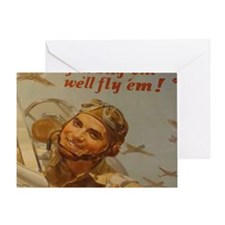 You Buy em well fly em Cropped Cafe  Greeting Card