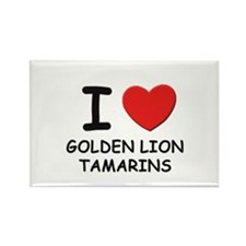 I love golden lion tamarins Rectangle Magnet