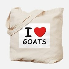 I love goats Tote Bag