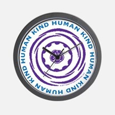 Human Kind Indigo Wall Clock