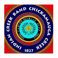 2-Seal of the Indian Creek Band2 Tile Coaster
