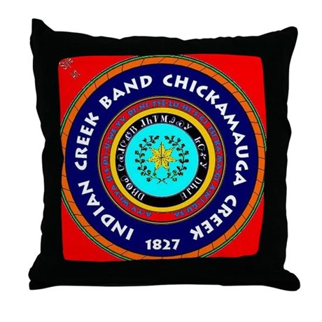 2-Seal of the Indian Creek Band2 Throw Pillow
