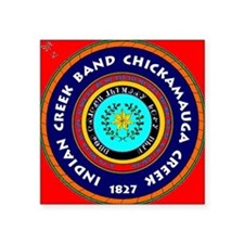 "2-Seal of the Indian Creek  Square Sticker 3"" x 3"""