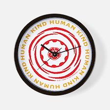 Human Kind Red Wall Clock