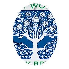 Smoking Tree Blue Oval Ornament