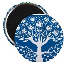 Smoking Tree Blue Magnet