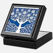 Smoking Tree Blue Keepsake Box