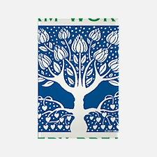 Smoking Tree Blue Rectangle Magnet