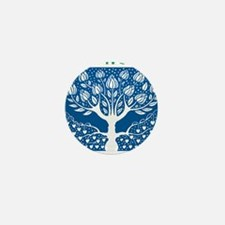 Smoking Tree Blue Mini Button