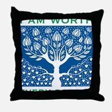 Smoking Tree Blue Throw Pillow