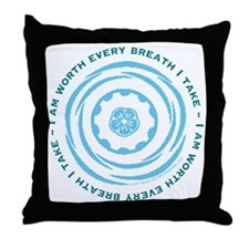 Worth Breath Teal Throw Pillow