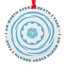 Worth Breath Teal Ornament