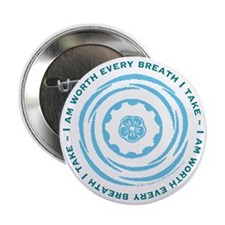 "Worth Breath Teal 2.25"" Button"
