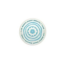 Worth Breath Teal Mini Button