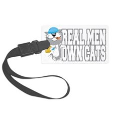 Real-Men-Own-Cats-blk Luggage Tag