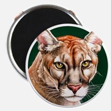 Panther Portrait Round Magnet