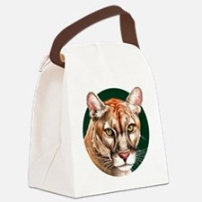 Panther Portrait Round Canvas Lunch Bag