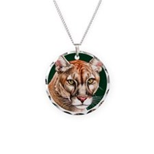 Panther Portrait Round Necklace