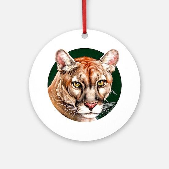 Panther Portrait Round Round Ornament