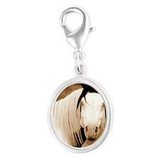 Shaman Silver Oval Charm