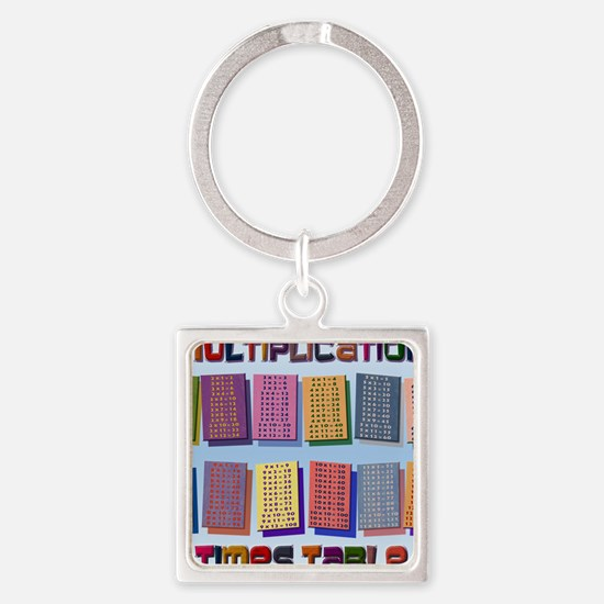 Times TablesH _small poster Square Keychain