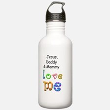 Jesus Daddy and Mommy  Water Bottle